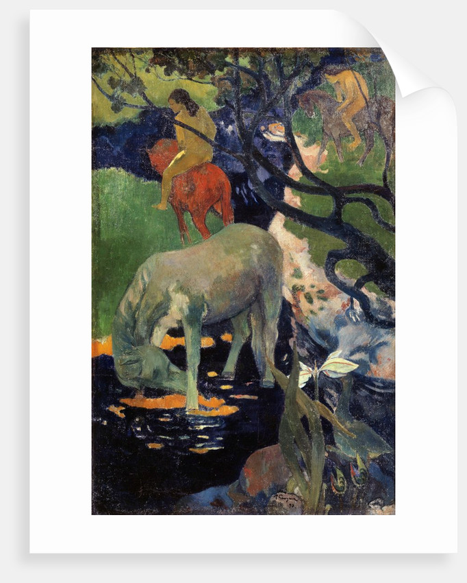 The White Horse, by Paul Gauguin
