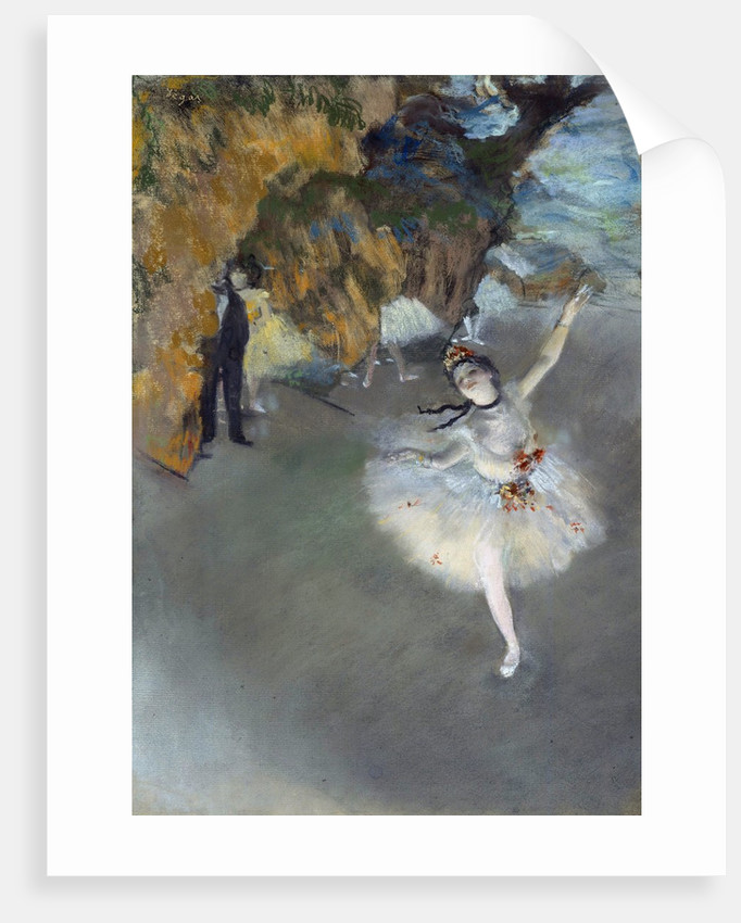 Dancer on the Stage by Edgar Degas