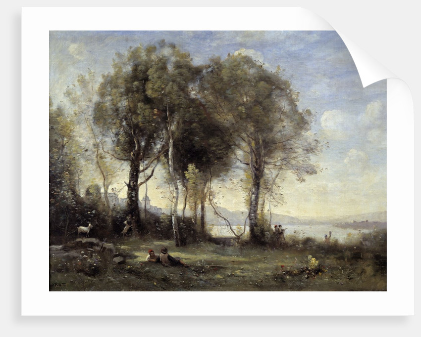 The Goatherds of Castel Gandolfo by Jean Baptiste Camille Corot