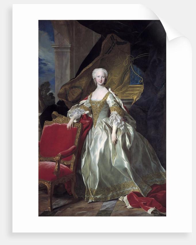 Full-length portrait of Maria Teresa Rafaela of Spain by Louis Michel van Loo