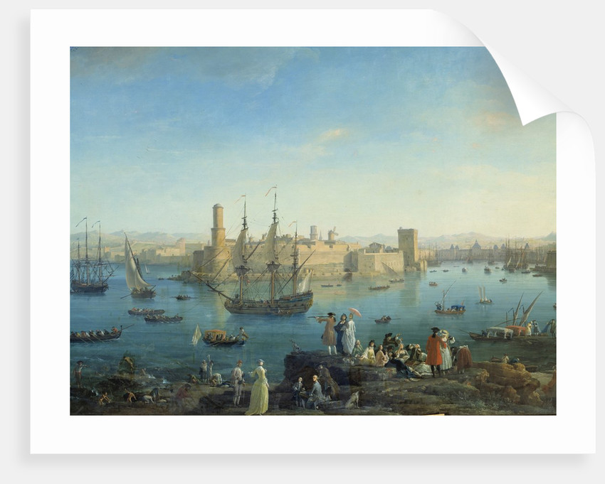 Entrance of the harbour of Marseille in 1754 by Joseph Vernet