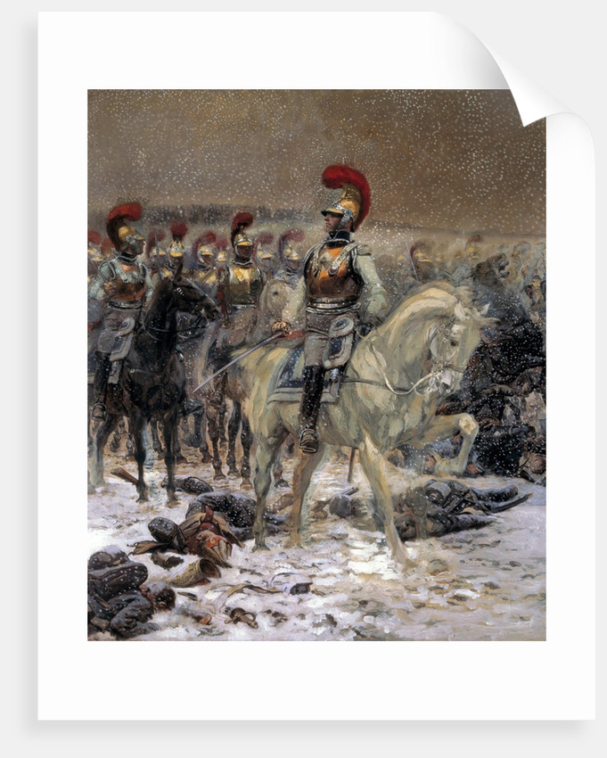 Before the charge, the Carabiniers at Winkowo by Jean-Baptiste-Edouard Detaille