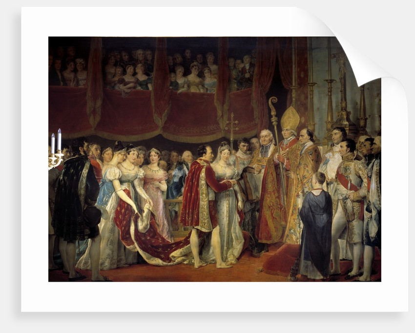 The marriage of Napoleon I and Archduchess Marie Louise de Habsburg-Lorraine by Georges Rouget