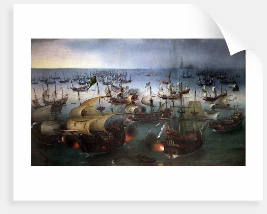 Day seven of the battle with the Armada, 07/08/1588 by Hendrick Cornelisz Vroom