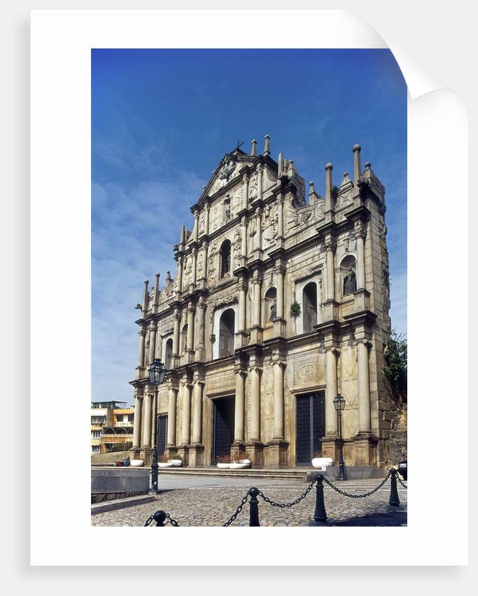 Portuguese ruins of St Paul, Macau, China by Corbis