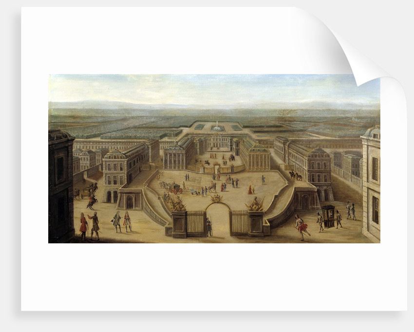 View of the Castle of Versailles from the Place d'Armes by Corbis
