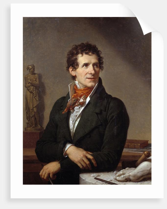 Portrait of the sculptor Antonio Canova by Francois-Xavier Fabre