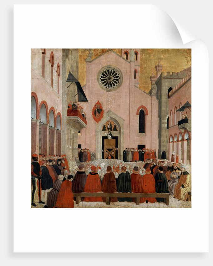 St Vincent Ferrer preaching before a Pope by Bartolomeo degli Erri