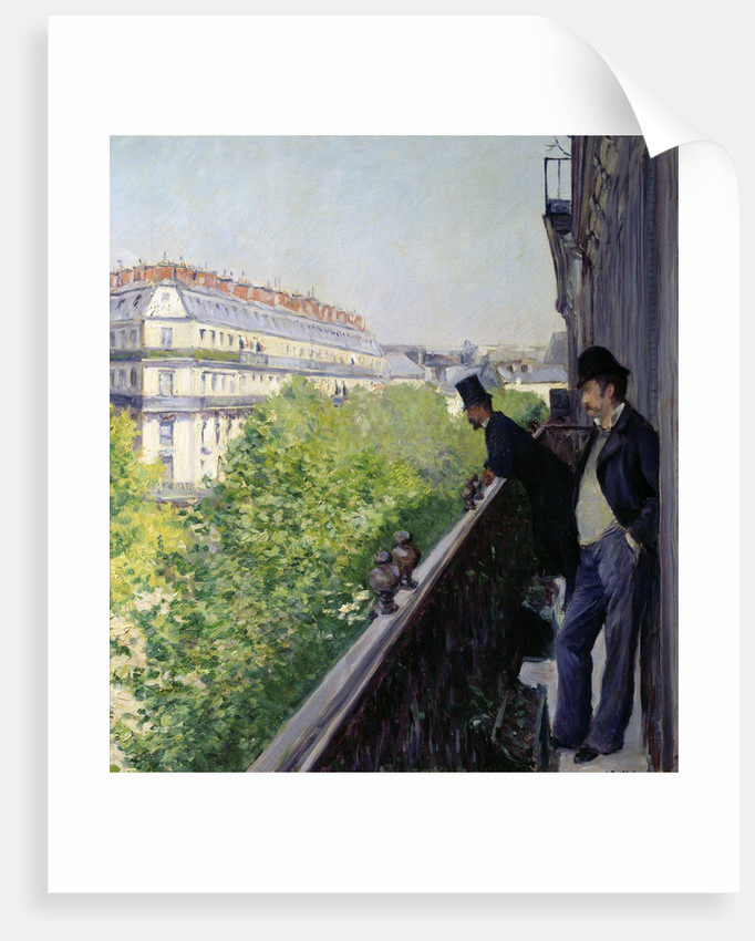 A Parisian balcony by Gustave Caillebotte