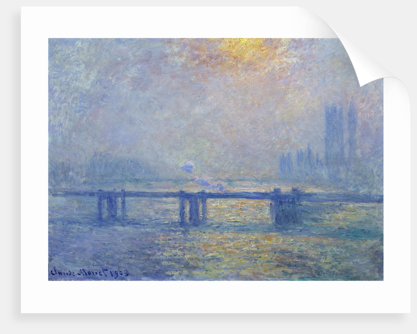 The Thames at Charing Cross Bridge by Claude Monet