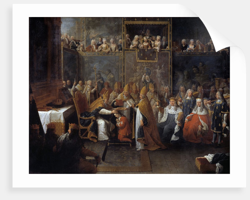 The coronation of Louis XV by Pierre Subleyras