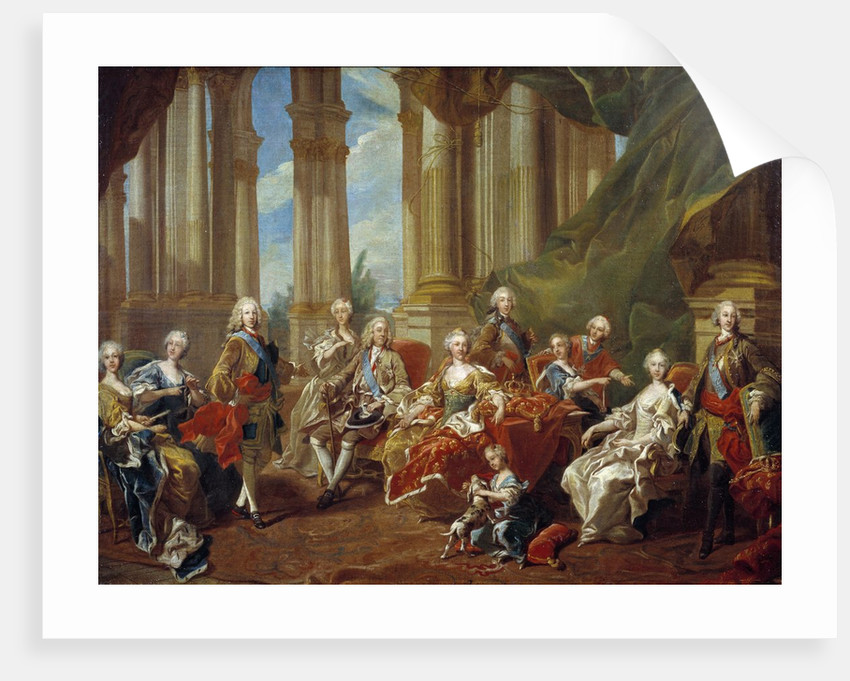 KING PHILIP V OF SPAIN /& FAMILY PORTRAIT PAINTING HISTORY ART REAL CANVAS PRINT
