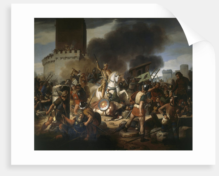 Count Eudes defending Paris against the Normans in 886 by Jean Victor Schnetz