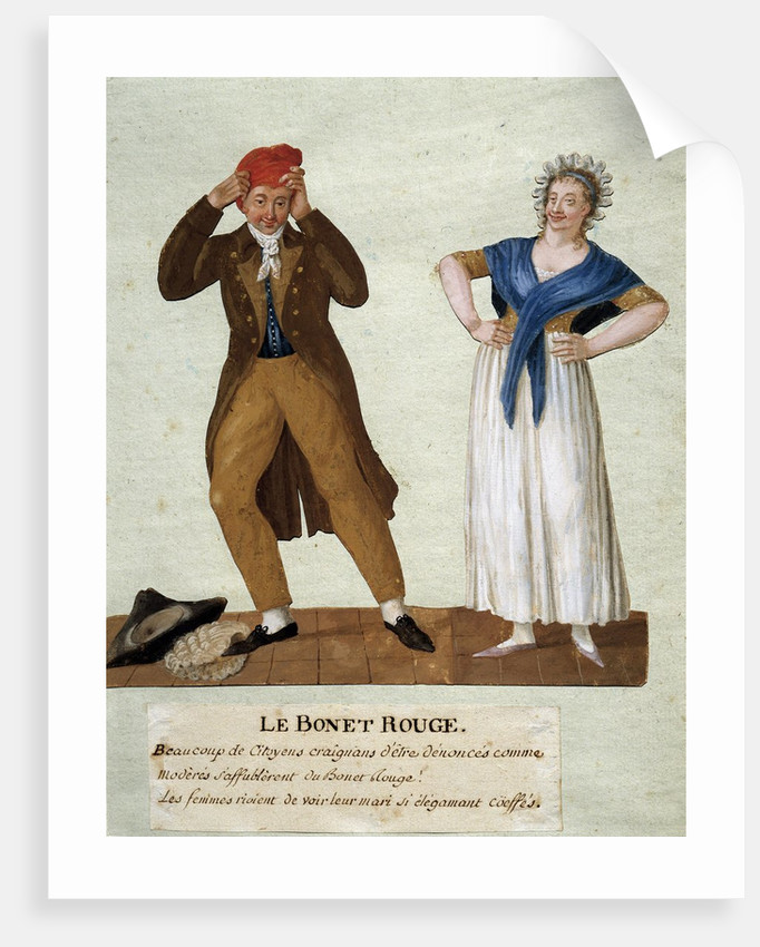 The Red Cap (Phrygian cap) by Lesueur brothers