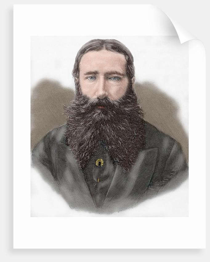 Leopold II of Belgium (1835-1909). Engraving. Colored. by Corbis