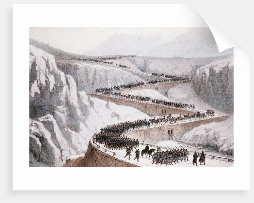 The passage of Moncenisio by the French army,1859 by Corbis