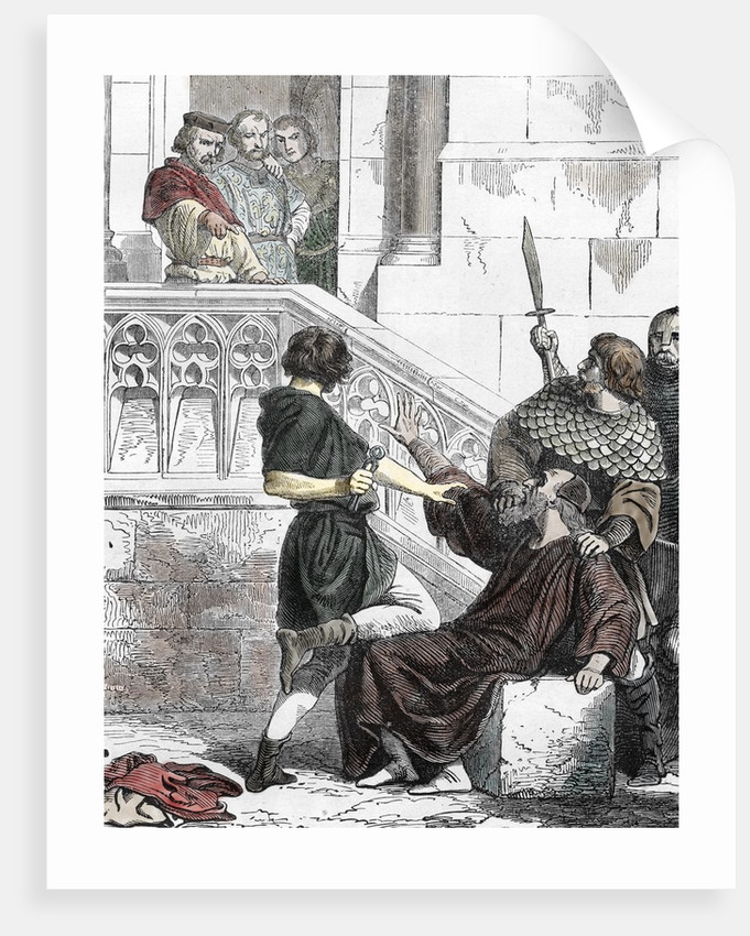 King John of Lackland extorting to an old jew, 1202 by Corbis