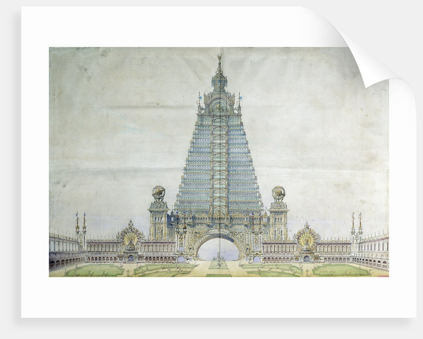 Project for the Eiffel Tower for the Universal Exposition 1900 by Corbis