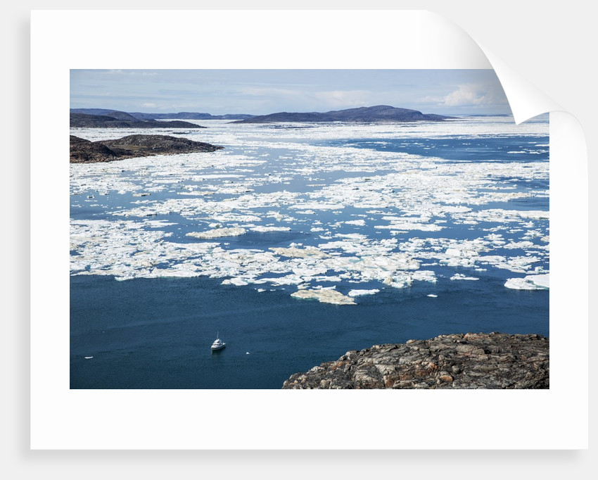 Expedition Boat and Sea Ice, Repulse Bay, Nunavut Territory, Canada by Corbis