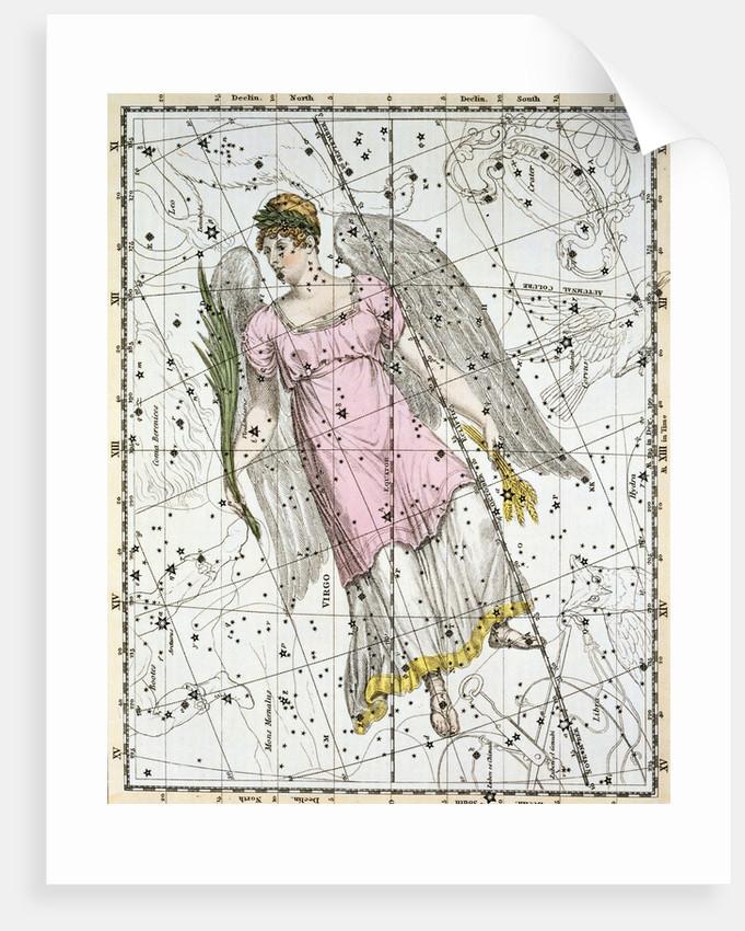 The Constellation Virgo from A Celestial Atlas by Alexander Jamieson