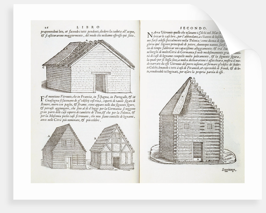 Illustration of House Types by Giovanni Antonio Rusconi