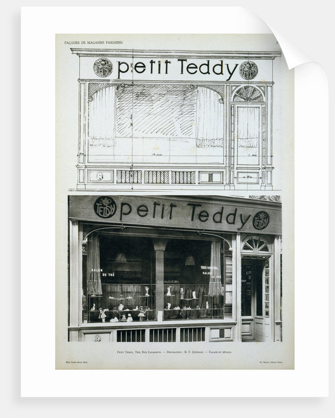Facade of the Petit Teddy Shop in Paris by Corbis