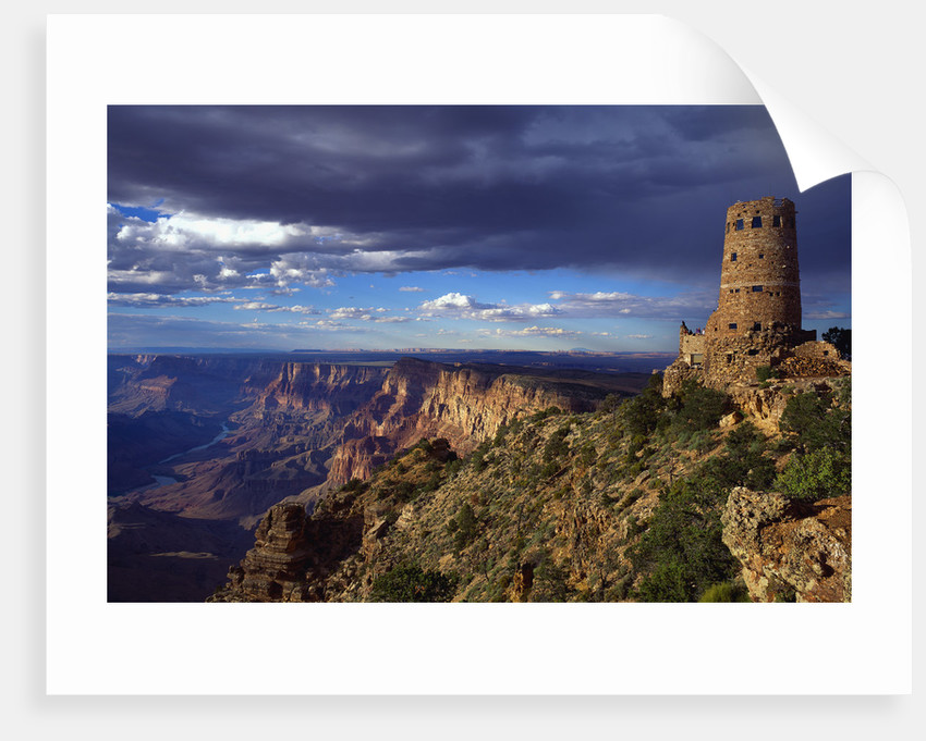 Desert View Watchtower and South Rim by Corbis
