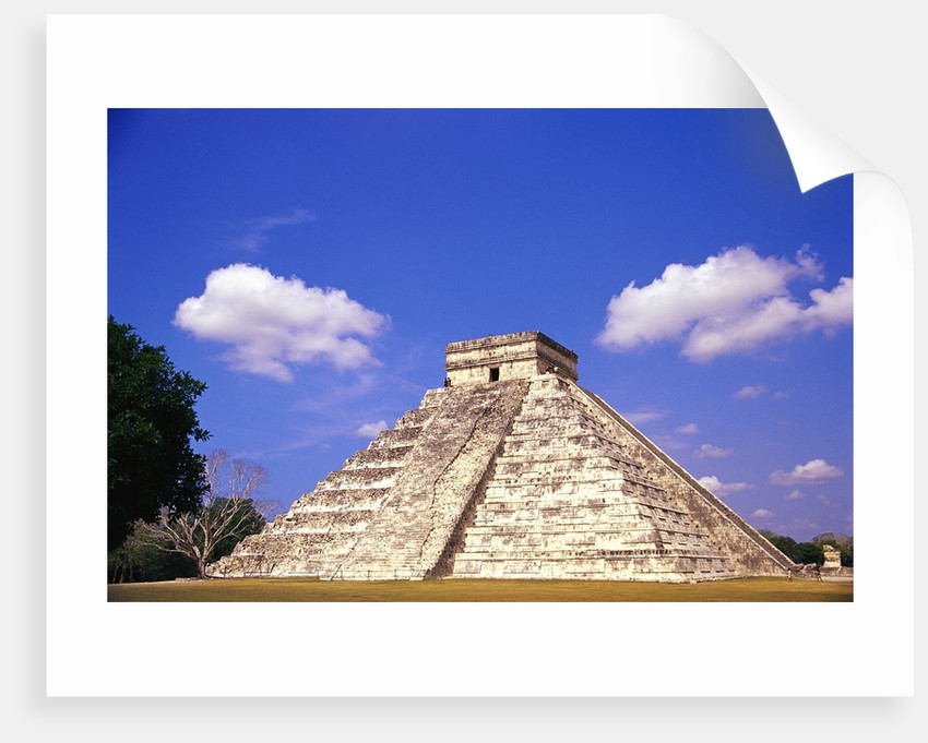 Clouds Hanging Over Pyramid of Kukulcan by Corbis