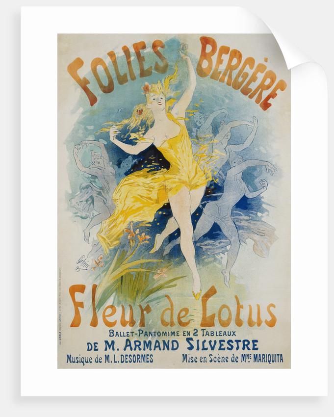 Folies bergere fleur de lotus poster posters prints by jules cheret folies bergere fleur de lotus poster by jules cheret mightylinksfo