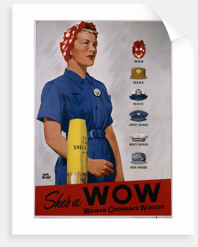She's a WOW Poster by Adolph Treidler
