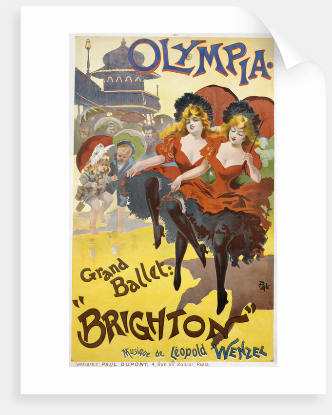 """Olympia - Grand Ballet: """"Brighton"""" Poster Advertisement by Pal"""