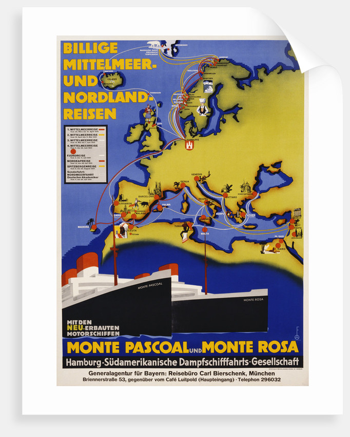 Billige Mittelmeer und Nordland-Reisen Poster by Corbis