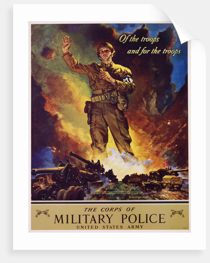 The Corps of Military Police Recruitment Poster by Jes Schlaikjer