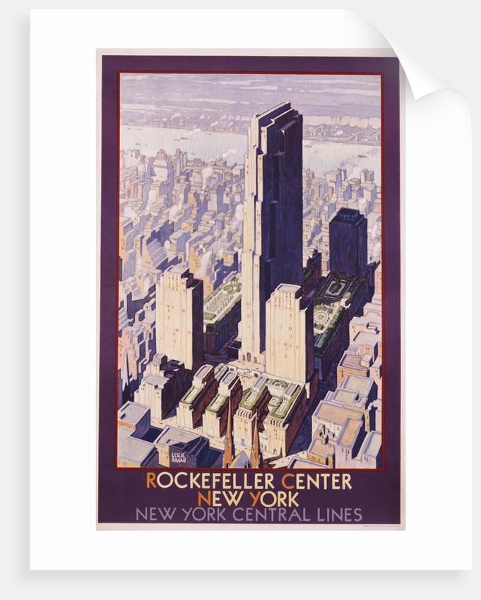 Rockefeller Center, New York: New York Central Lines Poster by Leslie Ragan