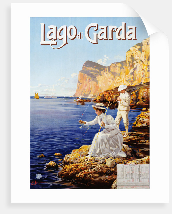 Lago Di Garda Travel Advertisement Poster By Elio Aimenel