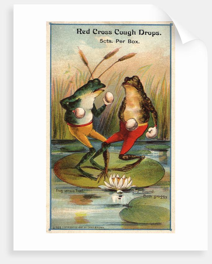 Frog Versus Toad Red Cross Cough Drops Advertisement by Corbis