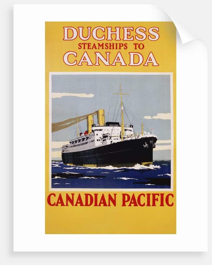 Duchess Steamships to Canada Poster by Corbis