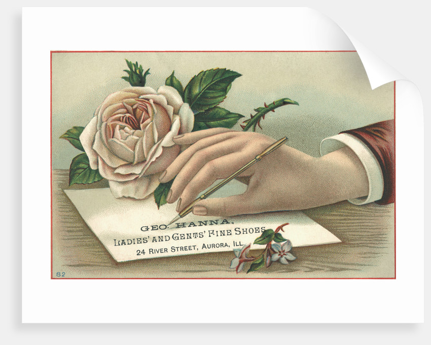 George Hanna, Ladies' And Gents' Fine Shoes Trade Card by Corbis