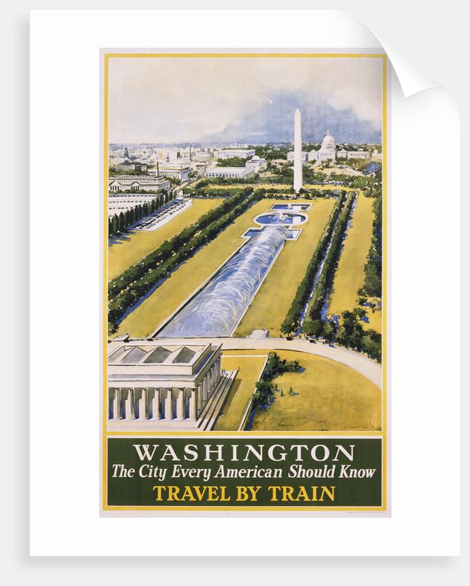 Washington Travel Poster by Corbis