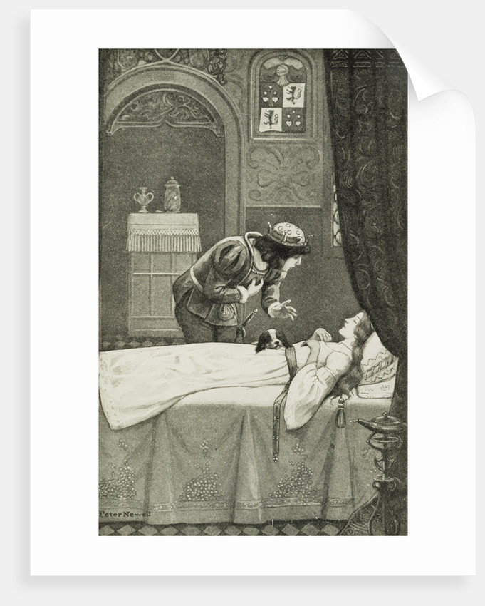 Illustration Depicting the Prince Discovering Sleeping Beauty by Peter Newell