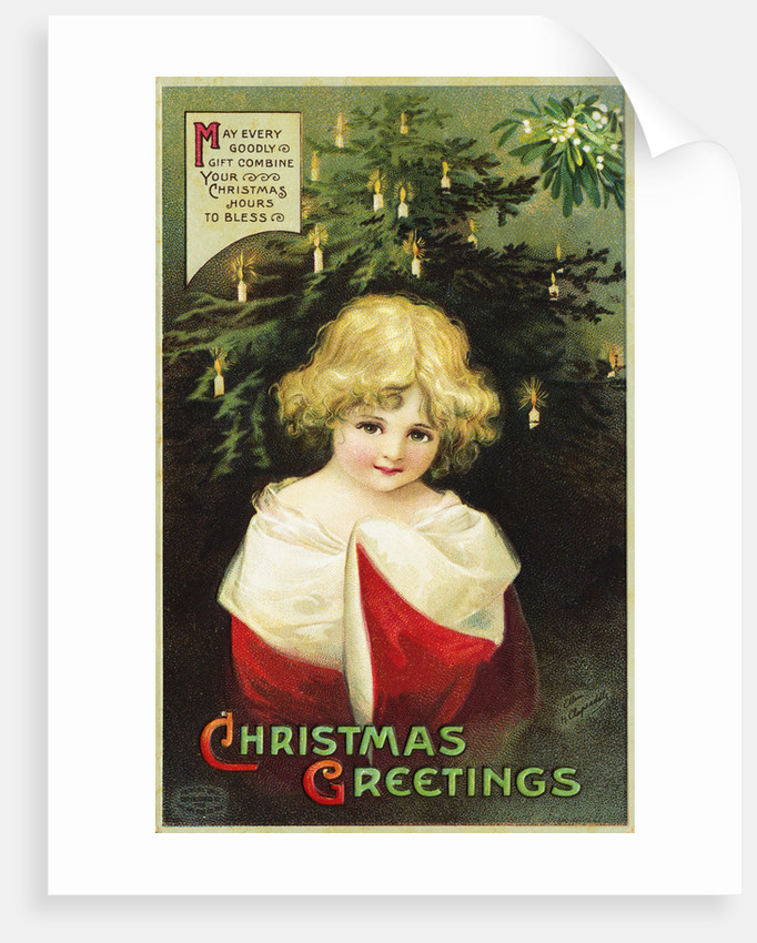 Christmas Greetings: May Every Goodly Gift Combine Your Christmas Hours to Bless Postcard by Corbis