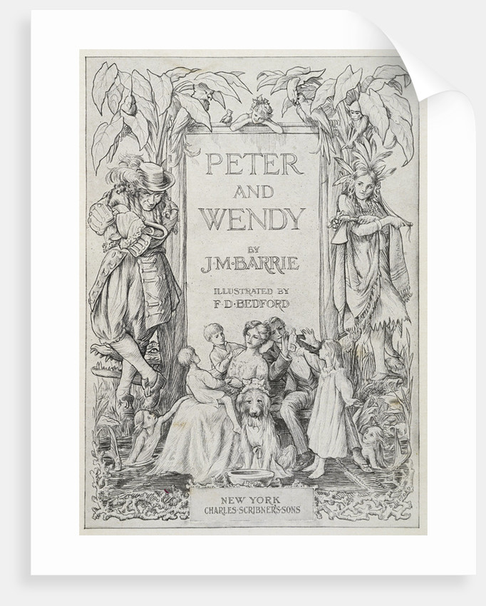 Peter and Wendy Book Cover Illustration by Francis Donkin Bedford