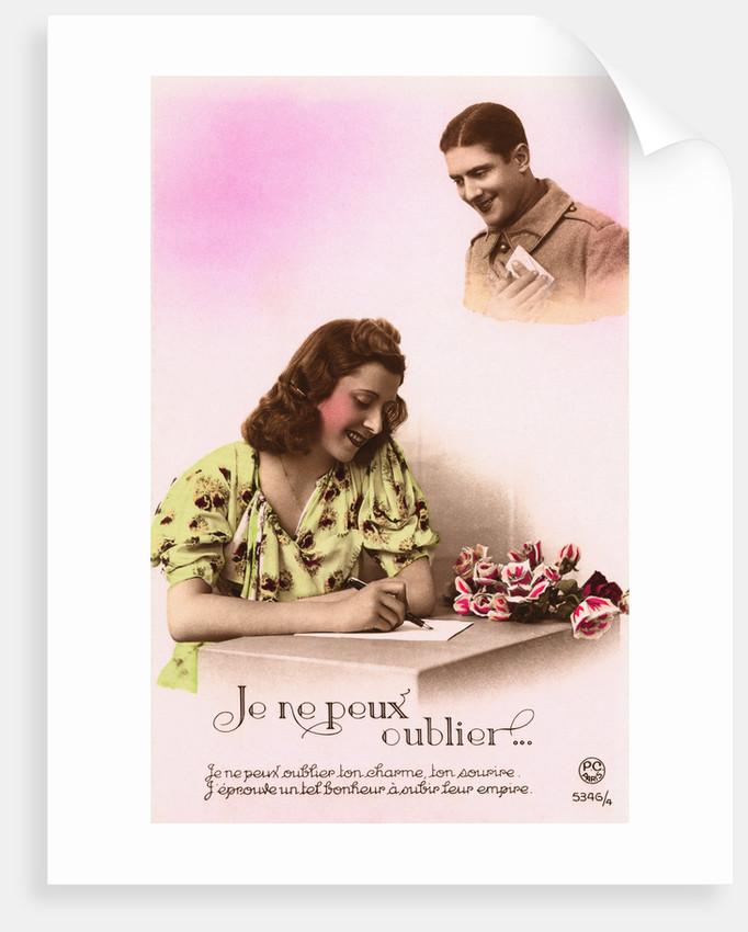 Je Ne Peux Oublier... Postcard by Corbis