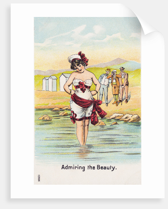Admiring the Beauty. Postcard by Corbis