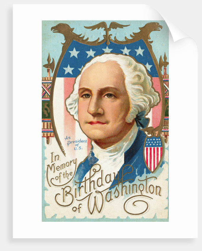 In Memory of the Birthday of Washington Postcard by Corbis