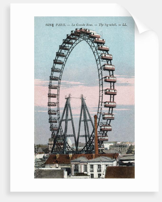 Paris - La Grande Roue Postcard by Corbis