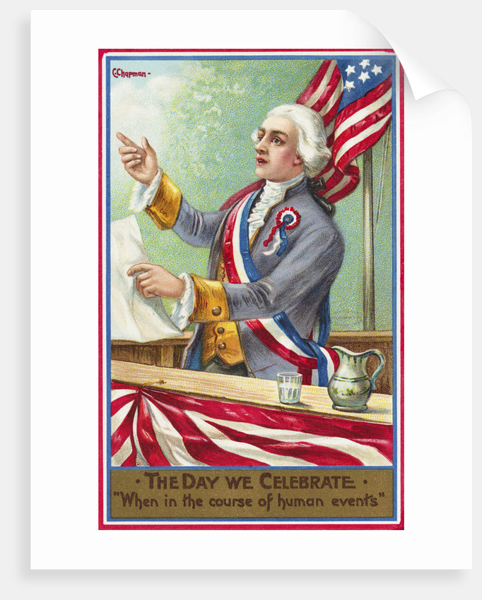 The Day We Celebrate: When in the Course of Human Events Postcard by Corbis