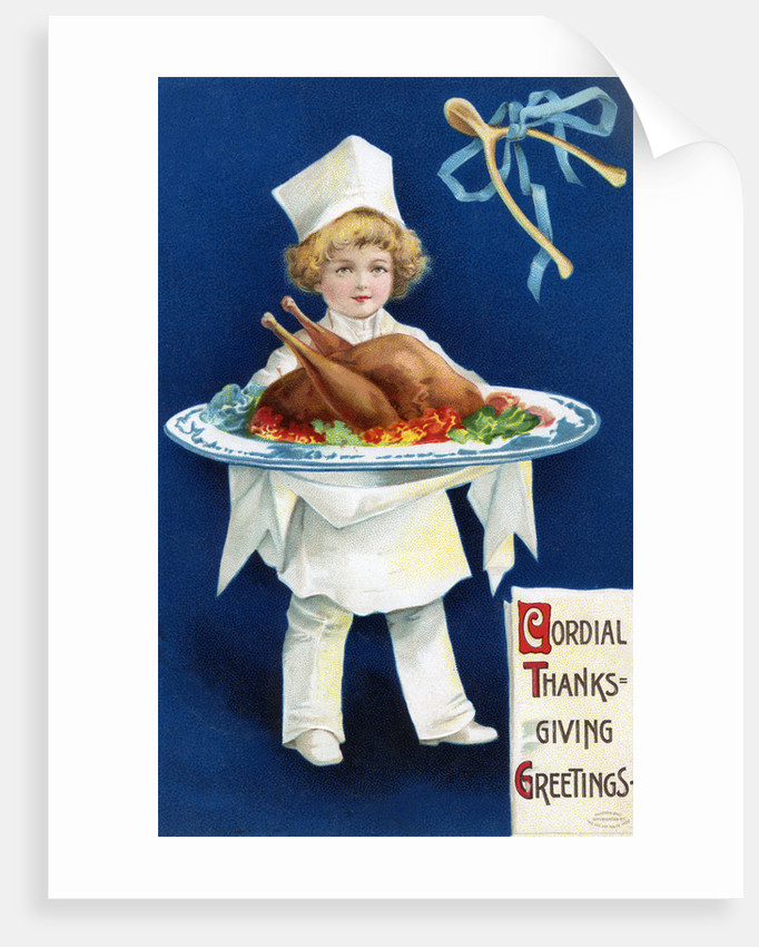 Cordial Thanksgiving Greetings Postcard by Corbis