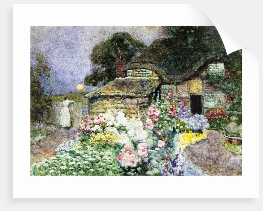A Cottage Garden at Sunset by David Woodlock
