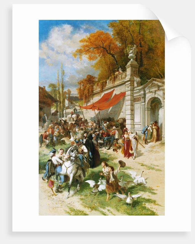 Carousing Soldiers by Emile Antoine Bayard